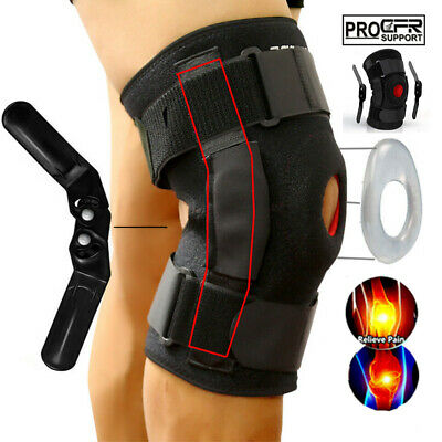 1ff4a69e63 Double Hinged Knee Brace Open Patella Support Stabilizer Medical Sports  Wraps US