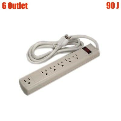 14//3, 90J 3Ft 6-Outlet Perpendicular Plug Power Strip Surge Protector
