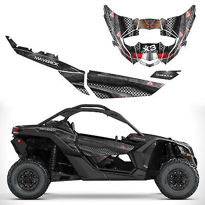 CAN AM MAVERICK X3 Max Body Armor F Decal Graphic Kit Wraps deco