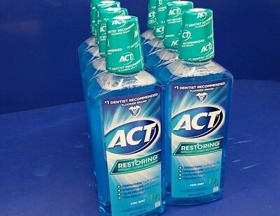 Lot of 8 ACT Restoring Anticavity Fluoride Mouthwash Cool Mint