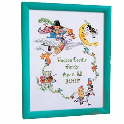 Bucilla Counted Cross Stitch Birth Record Kit,  Mary Engelbreit Mother Goose