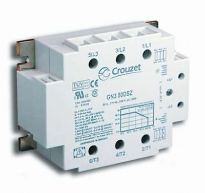 Crouzet 50 A Solid State Relay, Zero Crossing, Chassis Mount SCR, 600 V rms Maxi