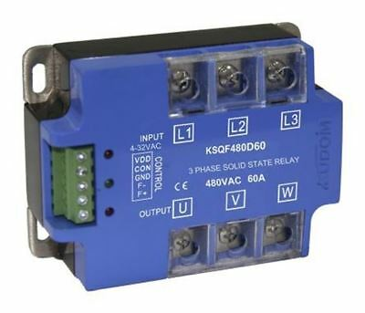 Kudom 60 A Solid State Relay 3 Phase, Zero Crossing, Panel Mount SCR, 530 V ac M