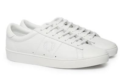 01216a361a New Fred Perry Spencer Mens Leather Trainers UK 6.5 - 10 White shoes  sneakers