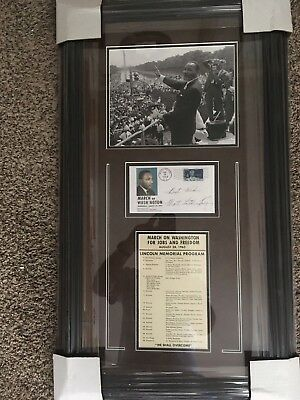 Martin Luther King Facsimile Signed 1963 Freedom March Display