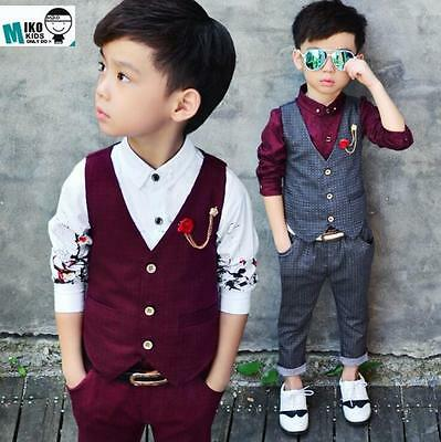 BOYS WAISTCOAT SUIT, Baby Boys Suits, Boys Wedding Suits, Page Boy ...