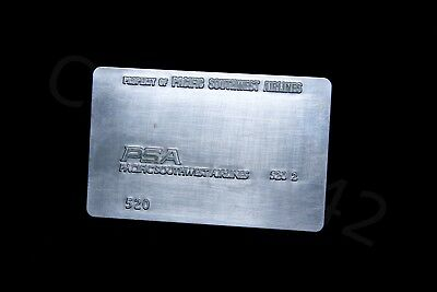 PSA Vintage ORIGINAL Credit Card Machine PLATE Pacific Southwest Airlines Gift