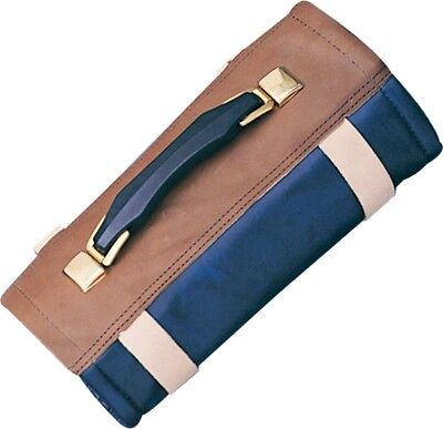 Hickory Hill Knife Case Deluxe 60PC Roll Leather Vinyl Carry Travel Storage ac35