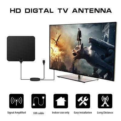 Super Thin TV Antenna OTA Indoor Digital HD TV HDTV Antenna 80 Miles Amplifier
