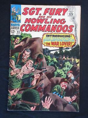 Sgt Fury and his Howling Commandos #45, VG+ 4.5