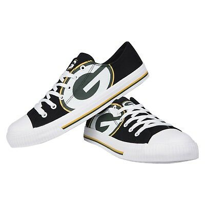 c70a753c Green Bay Packers NFL Men's Low Top Big Logo Canvas Shoes FREE SHIP