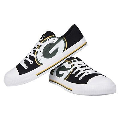 15b22e027c20a1 Green Bay Packers NFL Men s Low Top Big Logo Canvas Shoes FREE SHIP