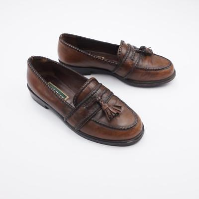 c37e7de9419f0 COLE HAAN WOMENS Loafers 6.5 B Vintage Green Label Handmade Italy ...