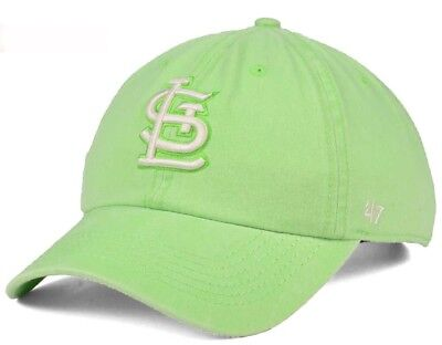 new product 50069 8f7e5 New St. Louis Cardinals Summerland Clean Up Hat Cap 47 Brand Green