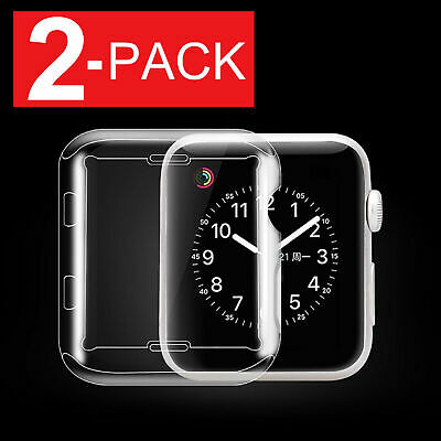 Soft Silicone TPU Bumper Frame Protective Case Cover For Apple Watch 38/42mm