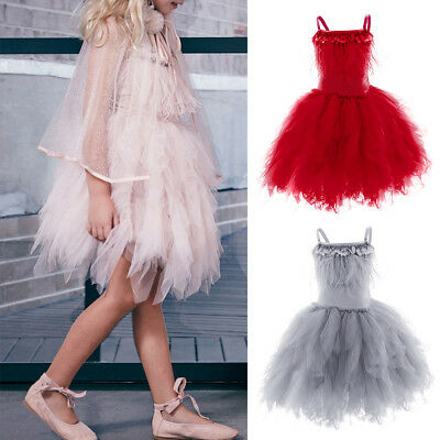 Toddler Baby Kid Girls Wedding Pageant Party Formal Show Swan Flower Girl Dress