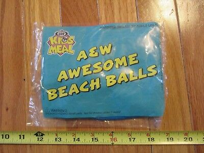 A & W Root Beer Kids Meal Beach Ball Sealed