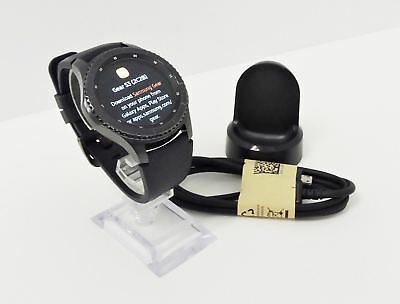 Samsung Galaxy Gear S3 frontier 46mm Stainless Steel Case Black Sport Band LG