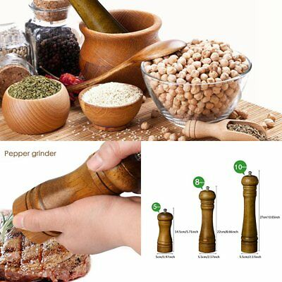 Kitchen Spice Sauce Muller Oak Wood Salt Mill Pepper Shaker Mills Pepper Grinder