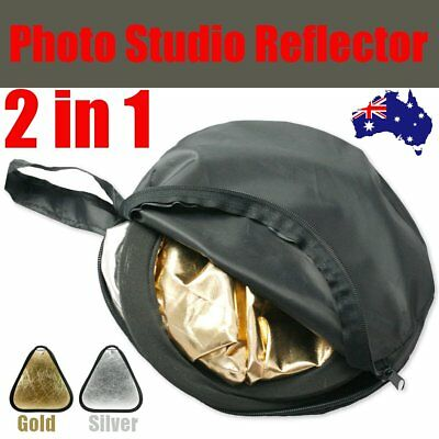 80cm 2in1 Photo Reflector w/ Handle Grip Studio Photography Light Collapsible AU