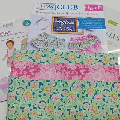 Tilda Club 6/18 Issue 19 Quilting Sewing Fabric Issue Craft Pattern Kit New