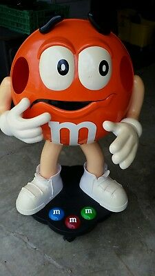 Orange M&M Candy Character Store Display on Wheels