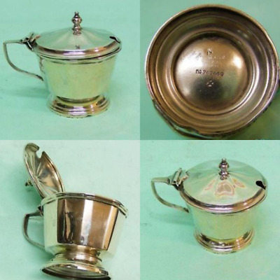 George V Sterling Silver Mustard Pot Birmingham England 1930 Unique and Special
