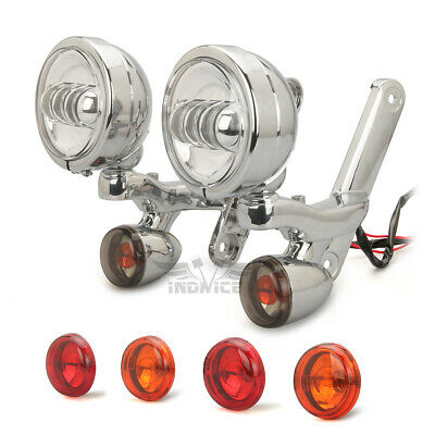 Turn Signal light harley street glide Spotlight Fog Light Bracket Trike FLHXXX