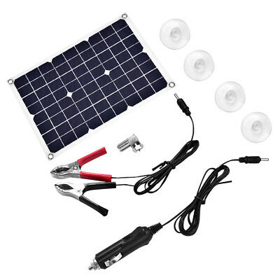 USB Solar Panel 20W 18V Power Bank  External Battery Charger for Car Boat Auto L