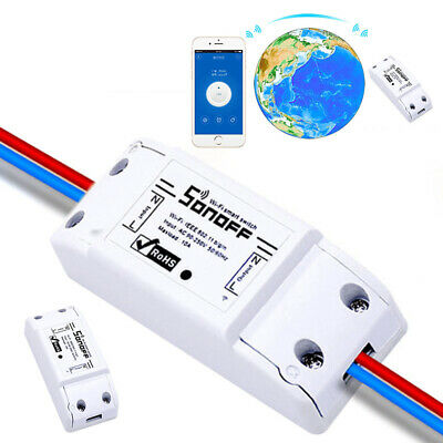 1X Wi-Fi Smart Switch Timer Remote Control Lamp Light Socket For ios/Android