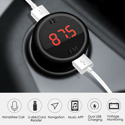Bluetooth Fast Charging Dual USB Car Charger FM Transmitter Music Player 3.1A