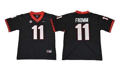 c11d4cfe0 NEW 2018 Jake Fromm Jersey  11 Georgia Bulldogs Football Jersey - Black