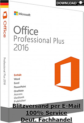 MS Microsoft Office 2016 Professional Plus Vollversion Business  Pro Software