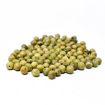 Exclusive 415.00 Carats Earth Mined Untreated Green Garnet Drilled Beads Lot