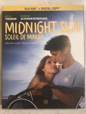 Midnight Sun Blu Ray 2018 w Slip Art Cover Canadian Bilingual Free Shipping LOOK