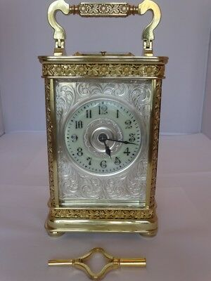 Superb antique repeater French carriage clock - c. 1900/10 - fully restored