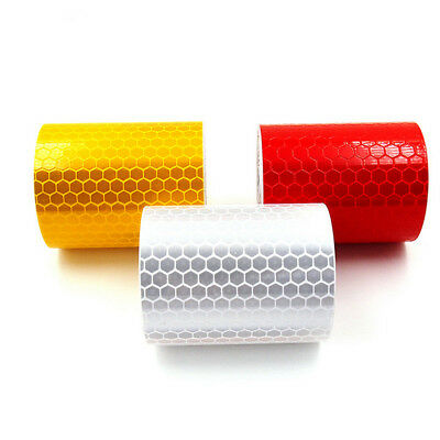 1x 3m Reflective Safety Warning Conspicuity Roll Tape Film Sticker For Auto LKW