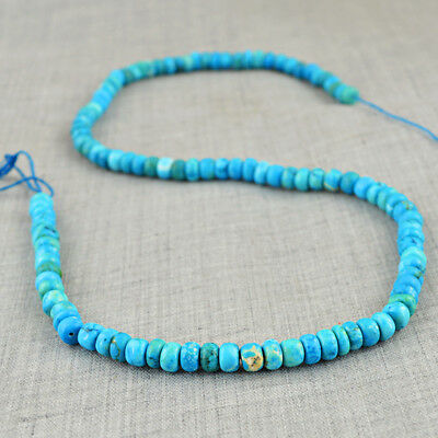 164.00 Cts / 18 Inches Earth Mined Untreated Drilled Turquoise Beads Strand