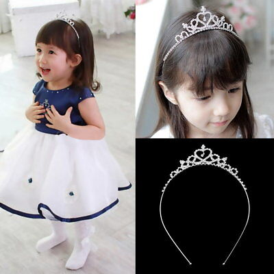 Kids Flower Girl Children Wedding Prom Tiara Crown Headband - Kid Size AZ