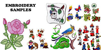 60,000+ Embroidery Machine Patterns Designs Files In .pes & .hus On Dvd - Free