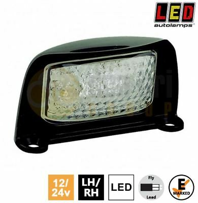 LED Autolamps 35 12V/24V Black LED Number Plate Light Lamp Car Van Truck Trailer