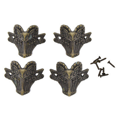 4pcs Bronze Corner Protector Guard for Jewelry Box Chest Feet Leg Decorative