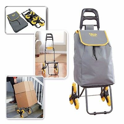 Climb Cart by BulbHead - The Folding Cart That Climbs Stairs with Ease - Holds