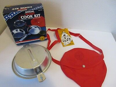 NOS VINTAGE BOY SCOUTS OF AMERICA OFFICIAL SCOUT COOK KIT - No.1200