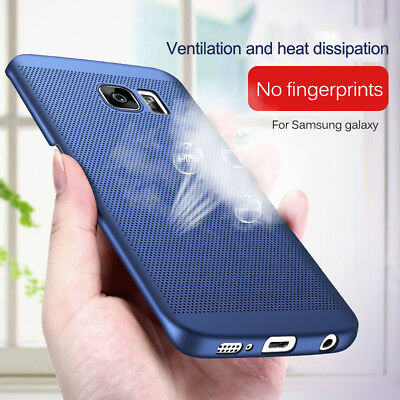 For Samsung S9 A5 A7 A6 Plus 2018 J4 Anti-knock Matte Thin Hard Phone Case Cover