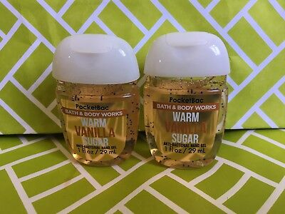 Warm Vanilla Sugar 2x Bath & Body Works Anti Bacterial Hand Gel RARE Scent