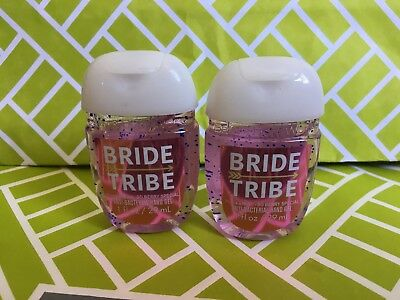 Bride Tribe 2x Bath & Body Works Anti Bacterial Hand Gel RARE Scent
