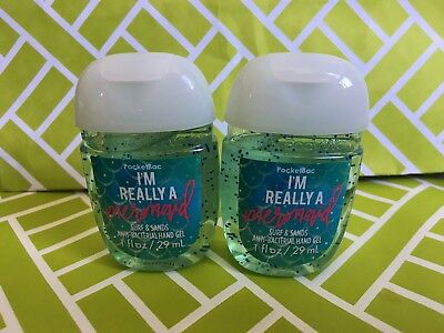 I'm Really a Mermaid 2x Bath & Body Works Anti Bacterial Hand Gel RARE Scent