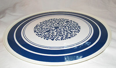 "Vintage Rubbermaid Large 15.5"" Lazy Susan Turntable Rotating Tray Blue 2715"