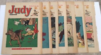 Vintage 1962 Set Of 8 Judy Girls Comic Minimal Wear
